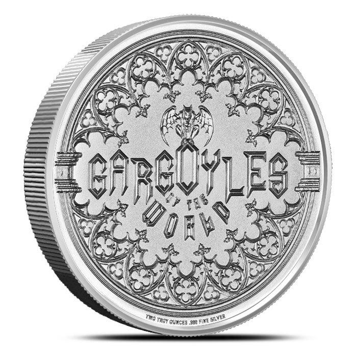 2 oz Silver Round |Gargoyle Back