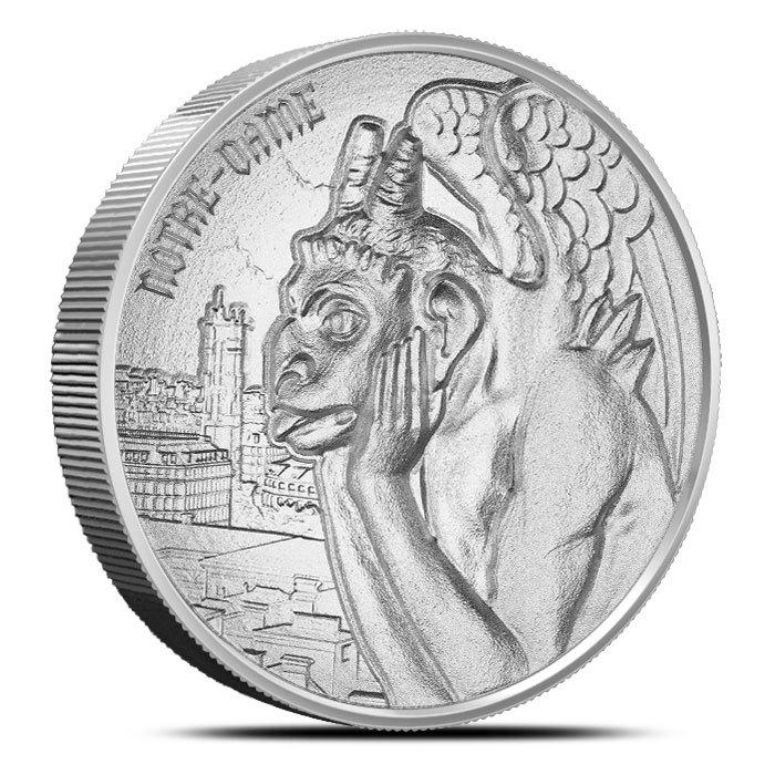 2 oz Silver Round |Gargoyle Front
