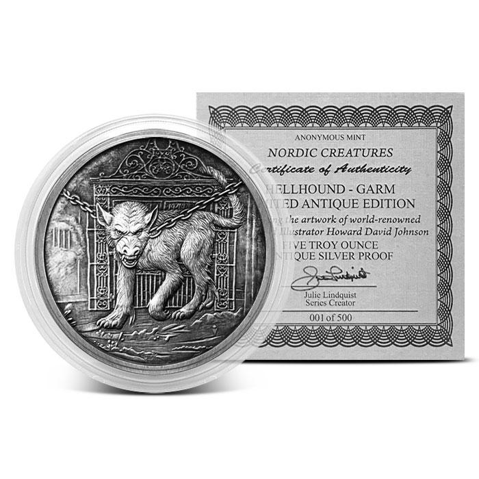 Garm 5 oz Antiqued Silver Round