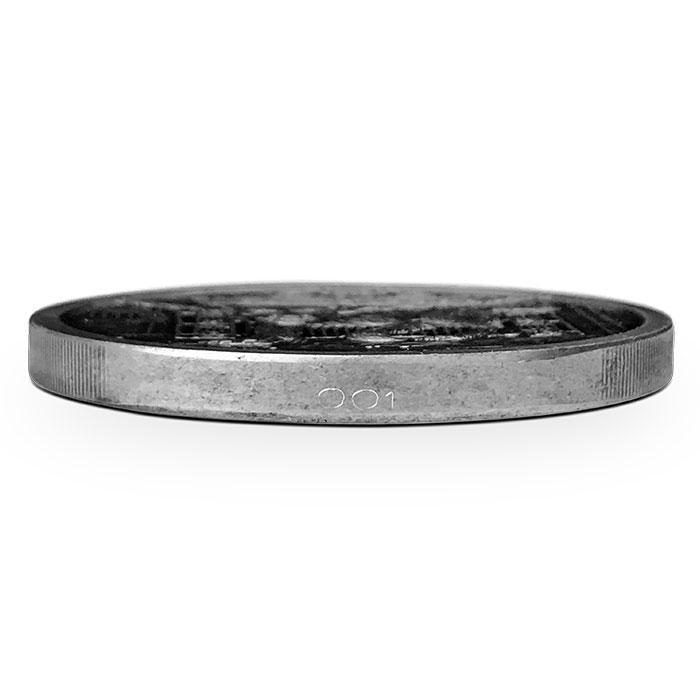 Garm 5 oz Antiqued Silver Round - Edge Number