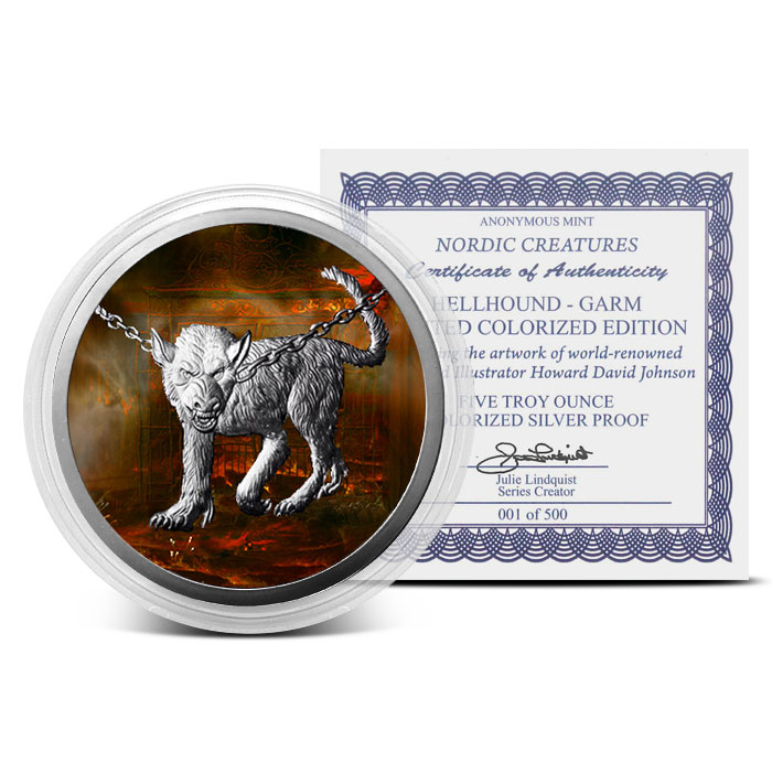 5 oz Silver Colorized Garm with Certificate
