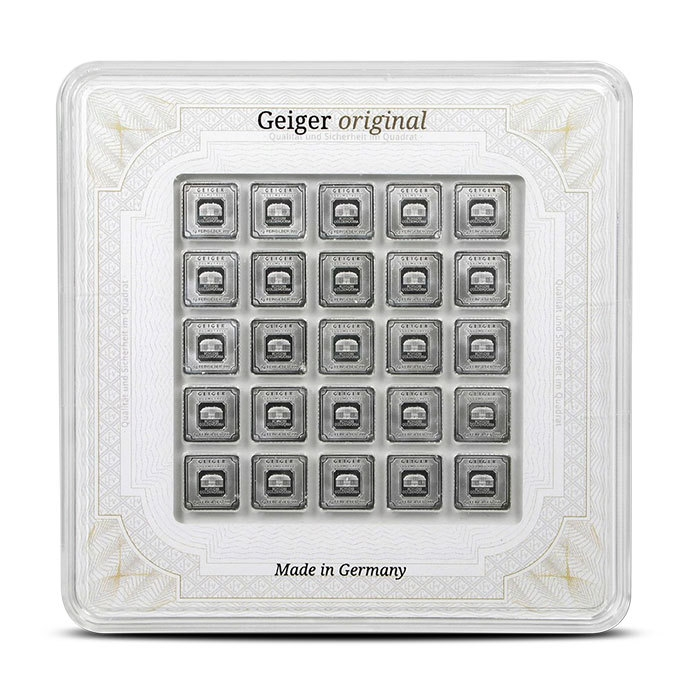 25x 1 gram Silver Bar | Geiger Multicard