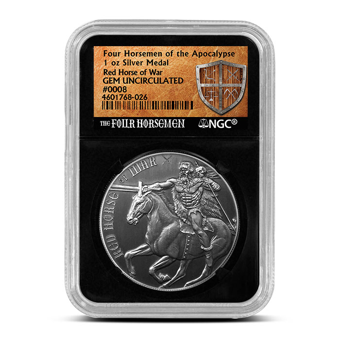 Red Horse of War NGC MS69 Antiqued