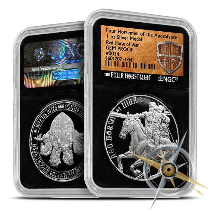 Red Horse of War | Four Horsemen NGC GEM Proof