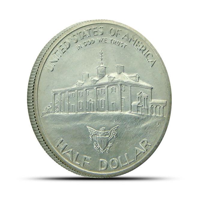 1982 George Washington Commemorative Silver Half Dollar Reverse