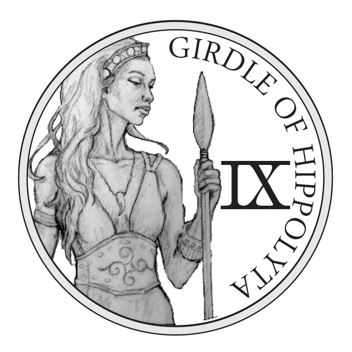 The 12 Labors of Hercules | Girdle of Hippolyta Silver Round