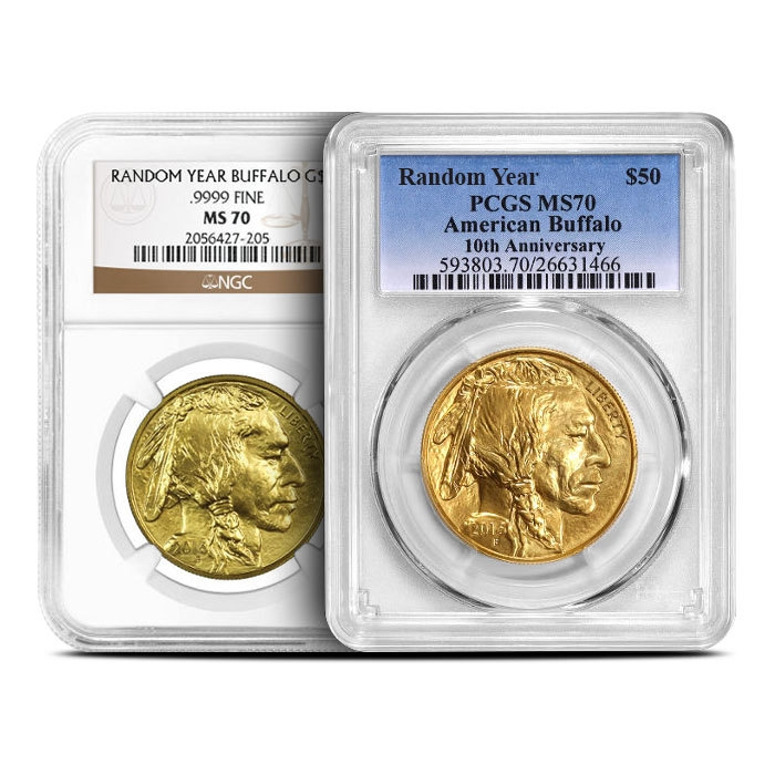 American Gold Buffalo NGC/PCGS MS70