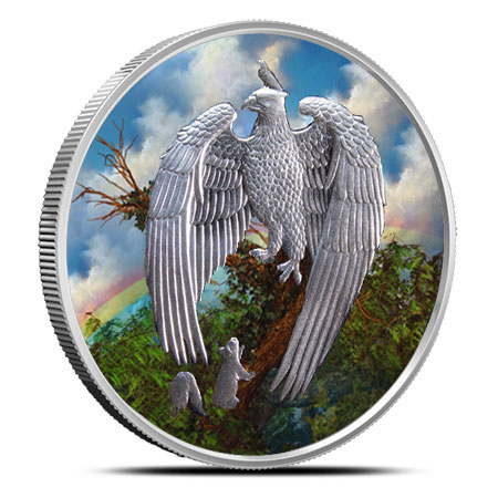 Great Eagle Colorized 1 oz Silver Round