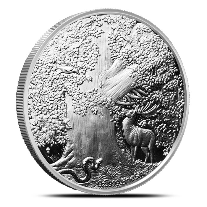 Great Eagle Colorized 1 oz Silver Round Reverse