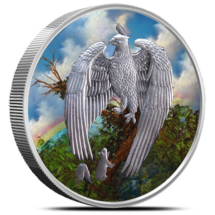 Great Eagle 5 oz Silver Colorized | Nordic Creatures