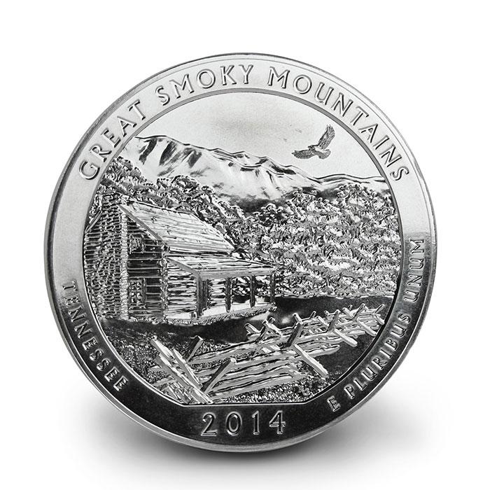 Great Smoky Mountain 5 oz Silver ATB Reverse