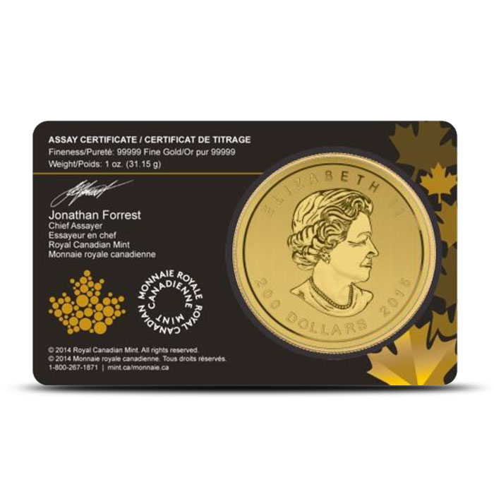 2015 1 ounce Canadian Gold Growling Cougar