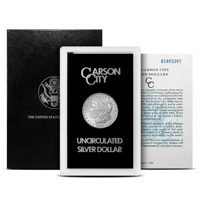 1881-CC GSA Holder Morgan Silver Dollar with Box and COA