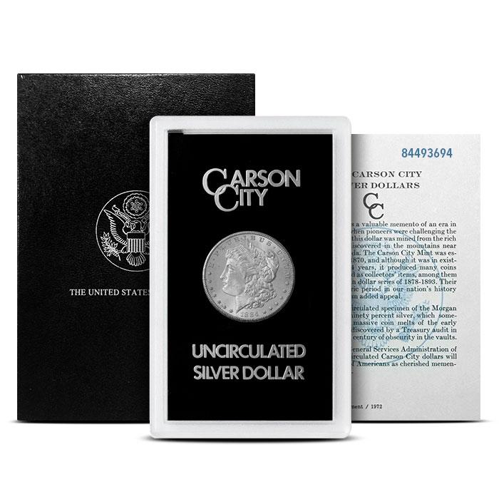 1884-CC GSA Holder Morgan Silver Dollar with Box and COA