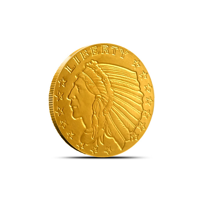 Incuse Indian 1/10 oz Gold Round