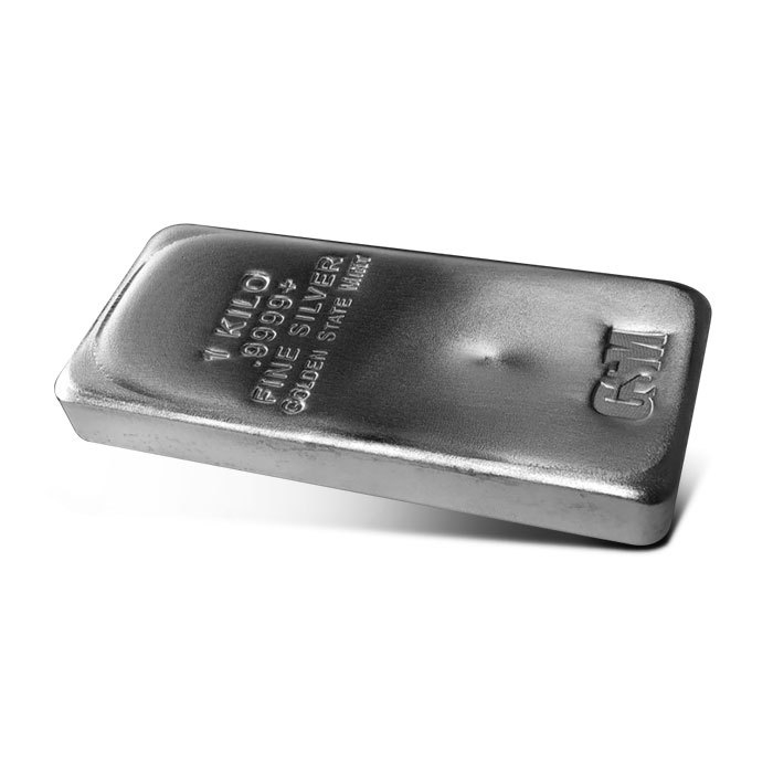 Golden State Mint Kilo Silver Bar Side
