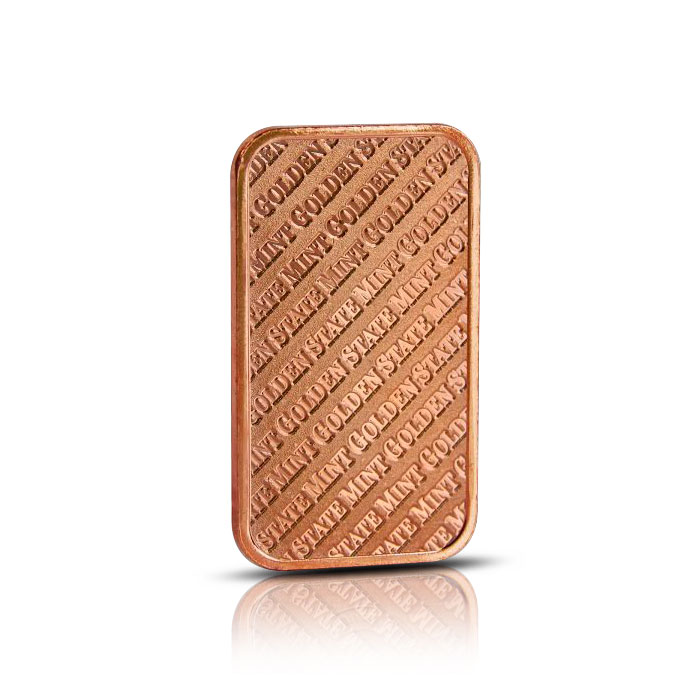 Golden State Mint 1 oz Copper Bar Reverse