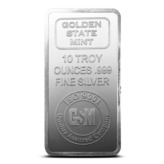 GSM 10 oz Silver Bar Front