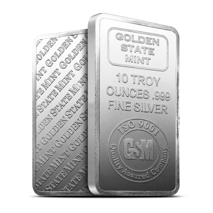 Golden State Mint 10 oz Silver Bars