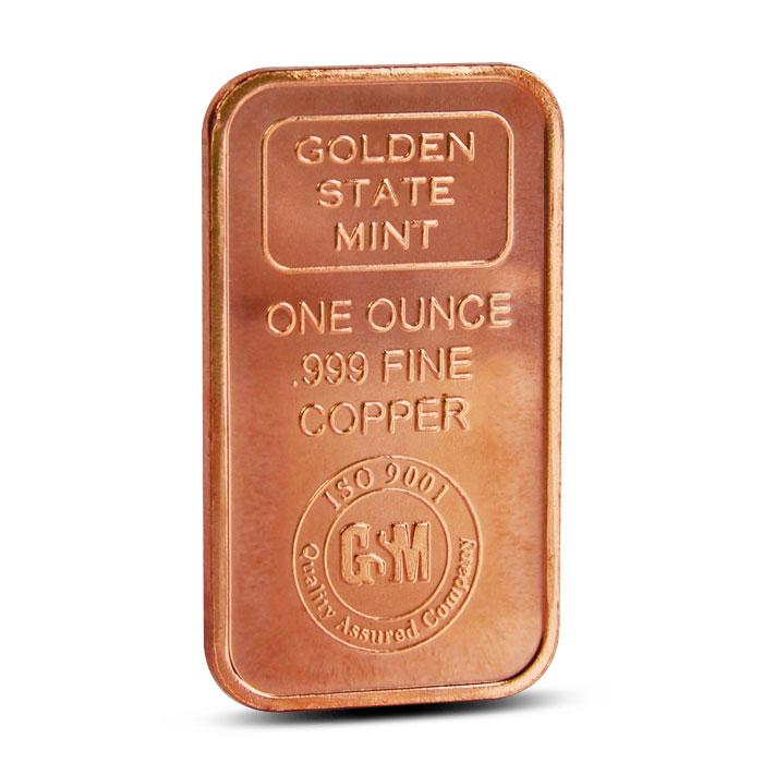 Golden State Mint 1 oz Copper Bar