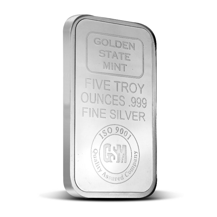 GSM 5 oz Silver Bar Front