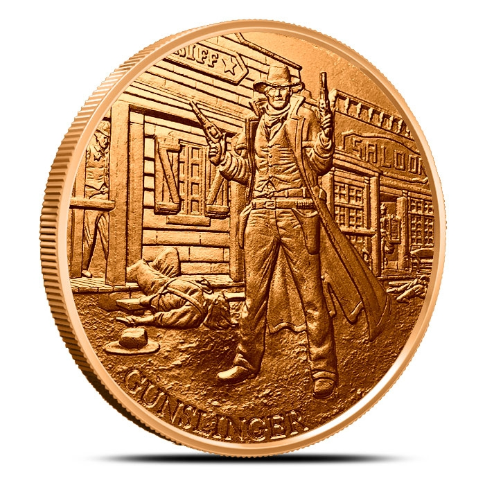 Gunslinger 1 oz Copper Round