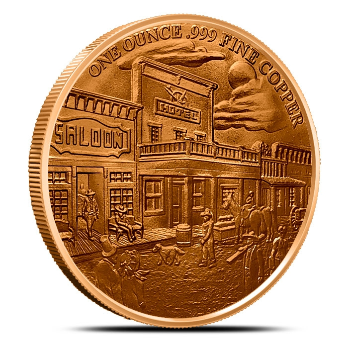 Gunslinger 1 oz Copper Round Reverse