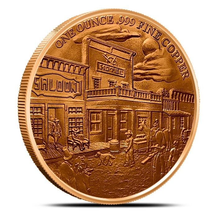 1 oz Copper Round | Pony Express Reverse