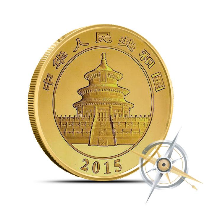 2015 1/2 oz Chinese Gold Panda Reverse