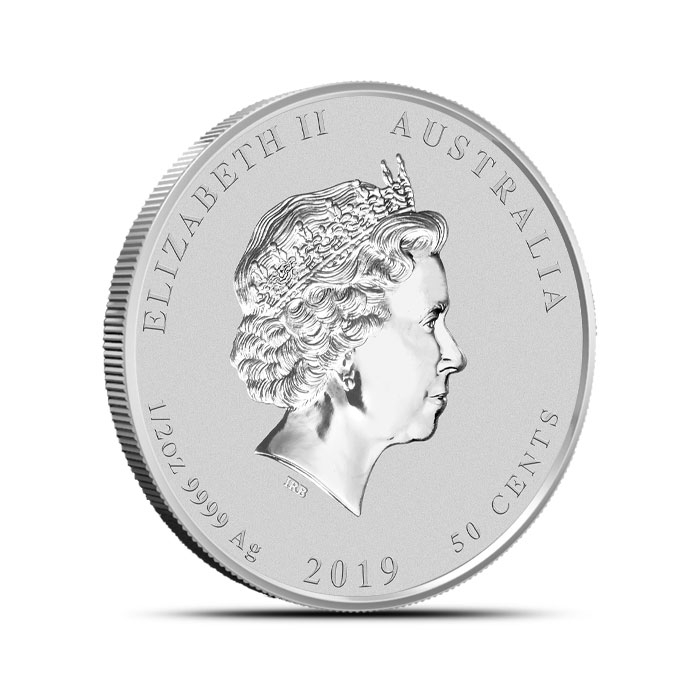 2019 1/2 oz Silver Lunar Pig Obverse