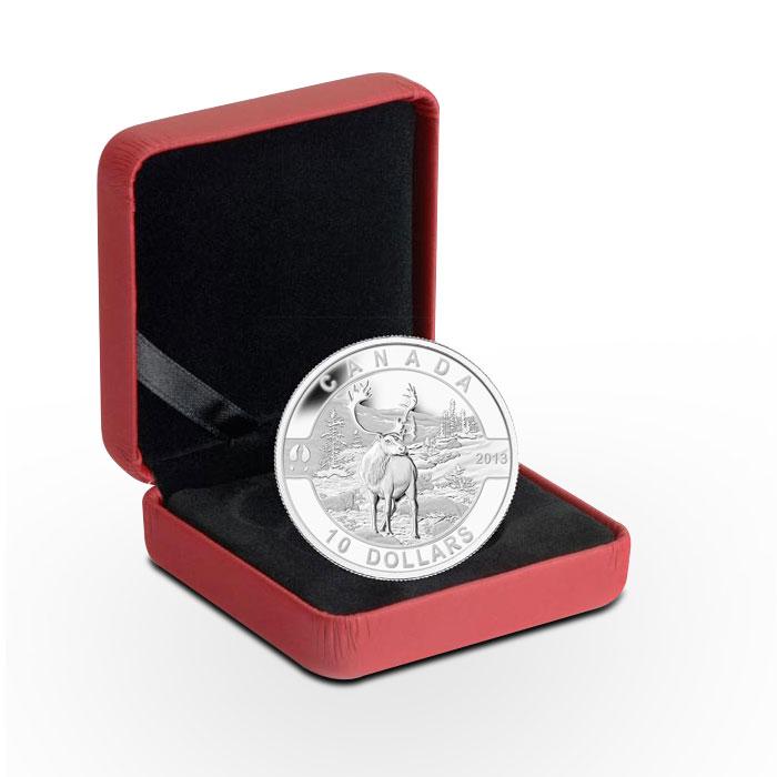 2013 Half ounce Silver Caribou in Box