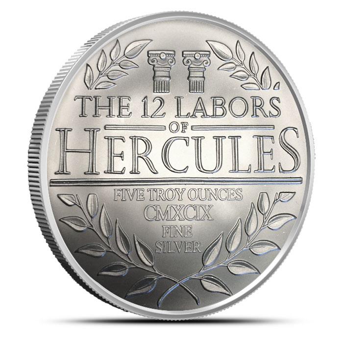 5 oz Silver Hercules | The 12 Labors of Hercules Obverse