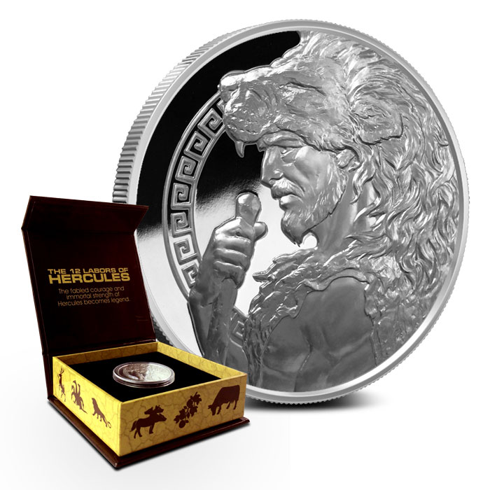 1 oz Proof Hercules Silver Round