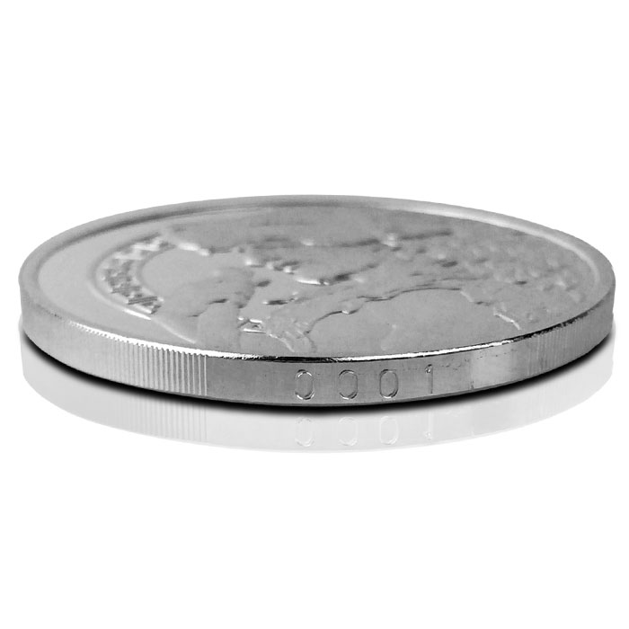 1 oz Silver Proof Hercules Side View with Serial number