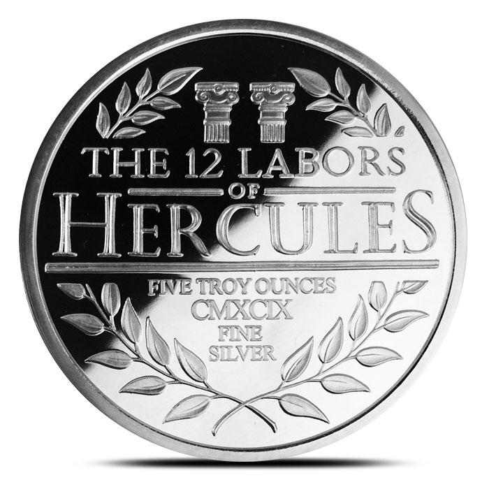5 oz Silver Proof Hercules Reverse