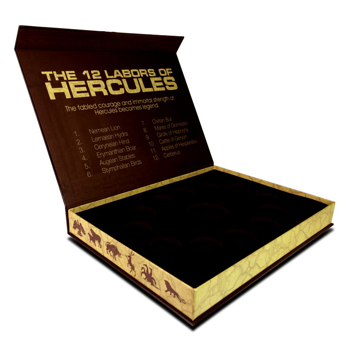 Display Box for 1 oz Silver or Copper 12 Labors of Hercules Series Coins