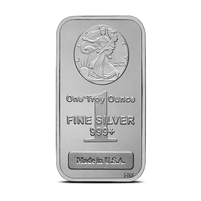 1 oz Silver Bar Walking Liberty
