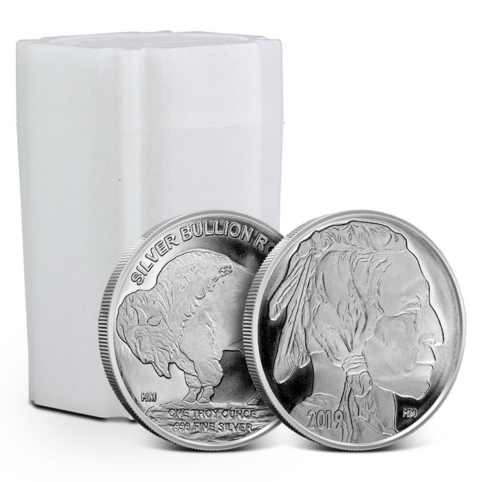 1 oz Silver Round | Highland Mint- Buffalo Tube
