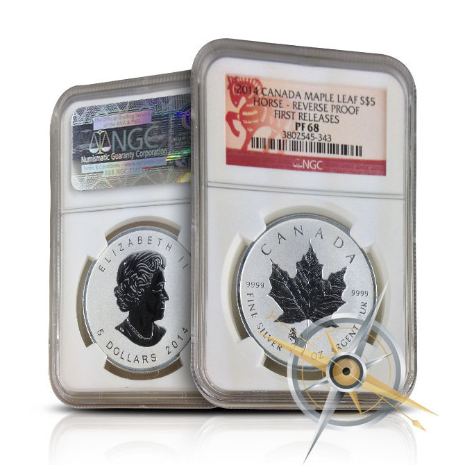 2014 Canadian Silver Maple Leaf Horse Reverse Proof | NGC PF68