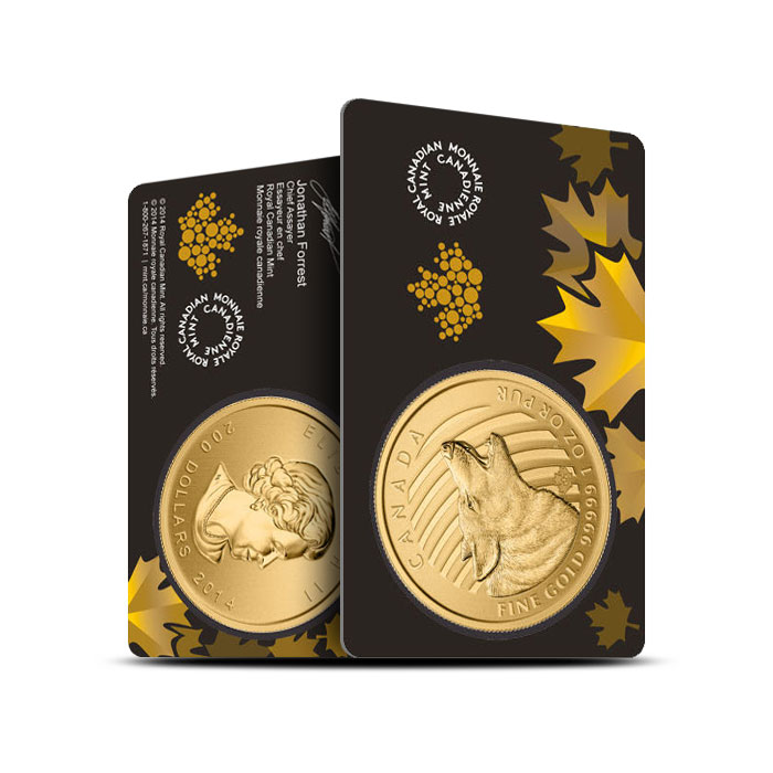 2014 1 oz Gold Howling Wolf | Call of the Wild Assay Card