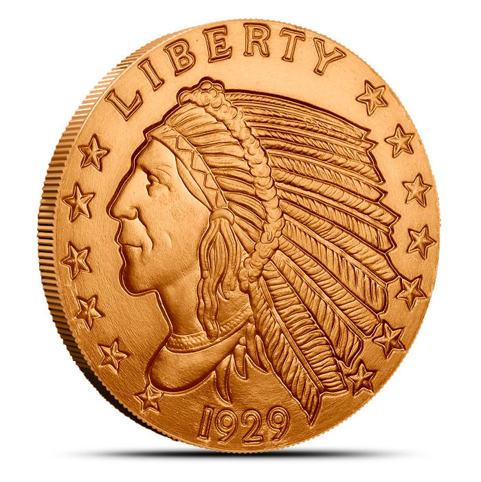 1 oz Copper Round | Incuse Indian