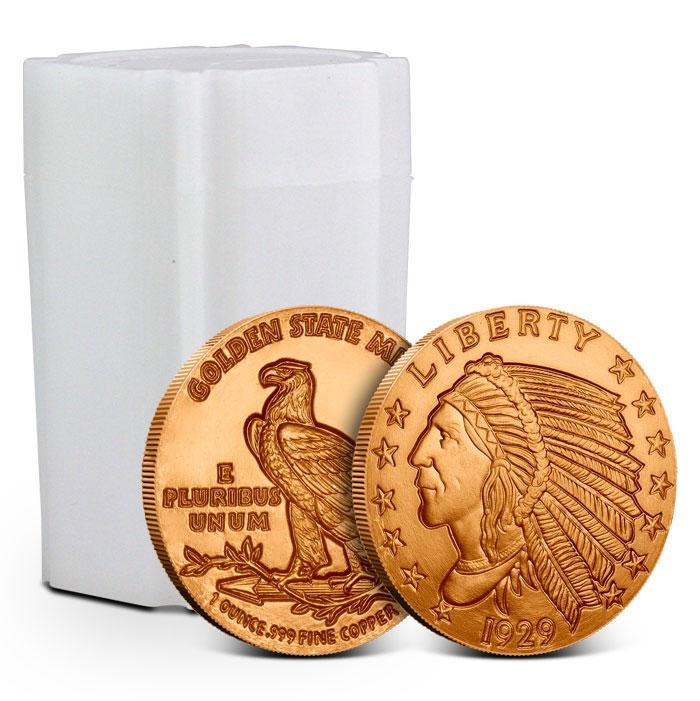 1 oz Copper Round | Incuse Indian Tube
