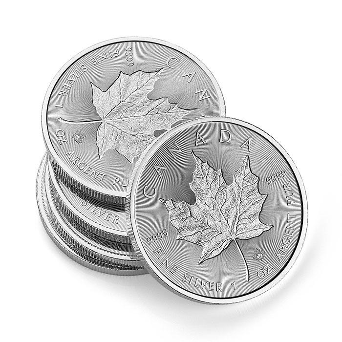 1 oz Silver Canada Incuse Maple Leaf Coins
