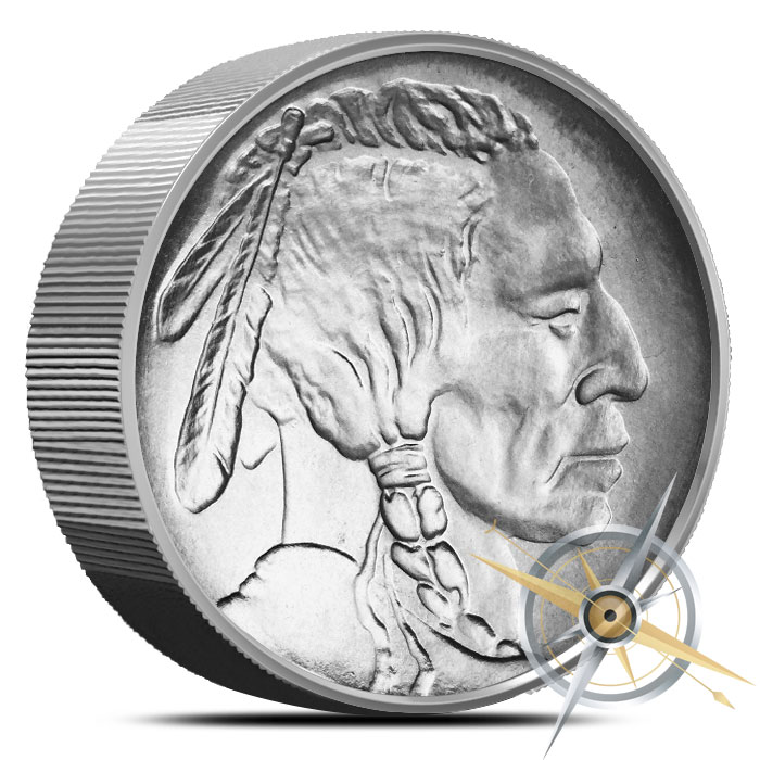 Indian Head 1 lb Titanium Round