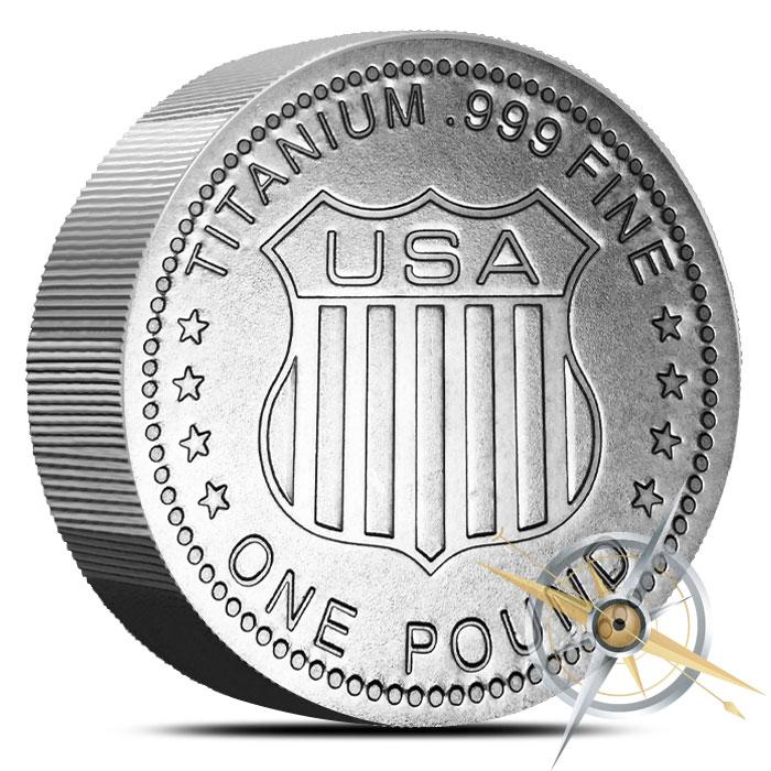 Indian Head one pound Titanium Round