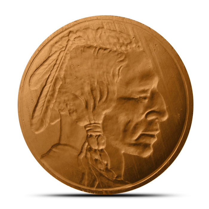 Indian Head 1 pound Copper Round Obverse
