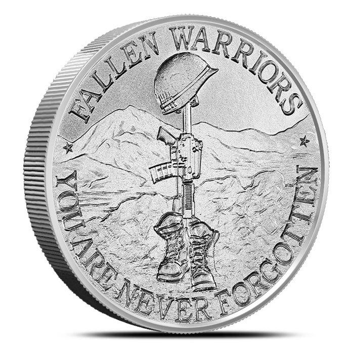 2 oz Silver Round | Battlefield Cross Front