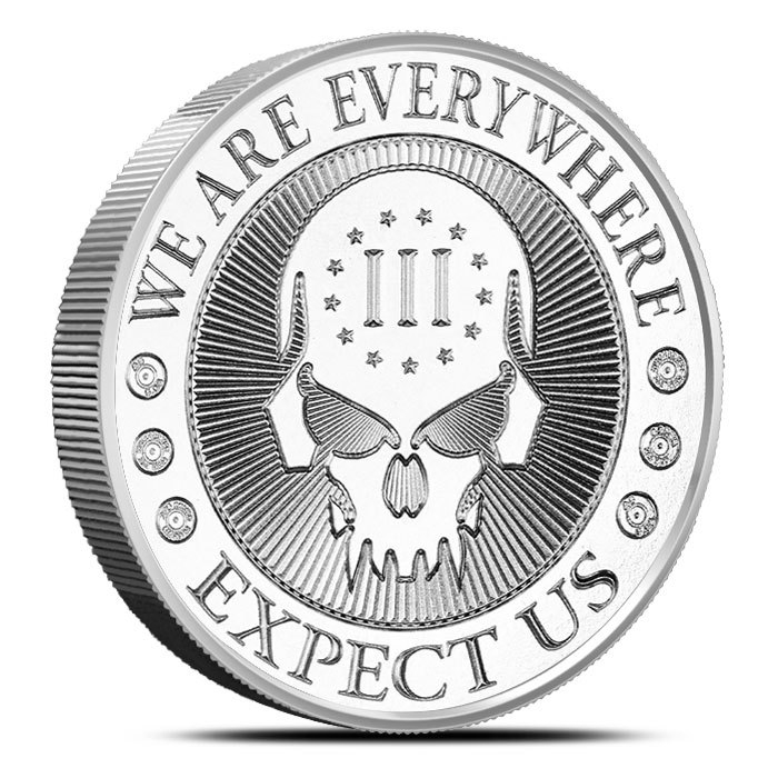 2 oz Silver Round | Deuce Four Skull Front