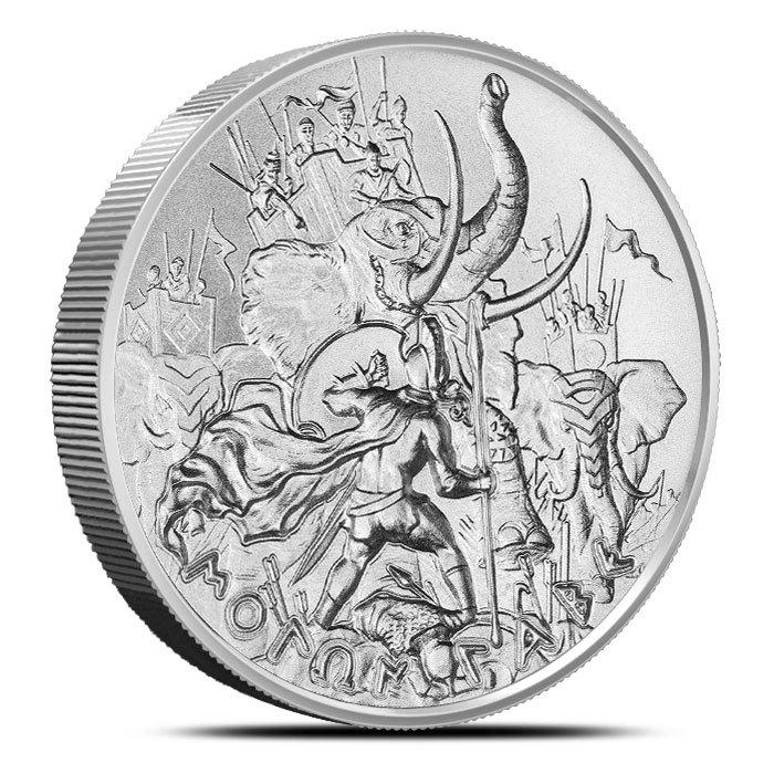 2 oz Silver Round | Molon Labe Type 4 Front