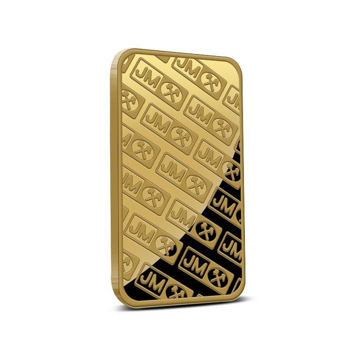 Johnson Matthey 1 oz .9999 Fine Gold Bar Reverse